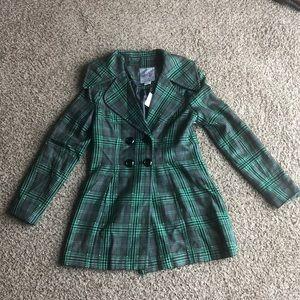 Kensie Girl Plaid Coat NWT Large